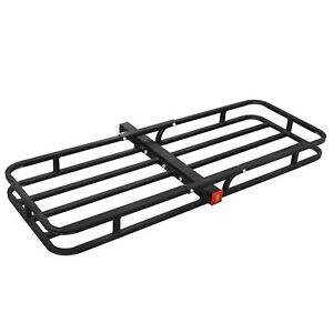 Cargo Luggage Carrier Basket Rack Truck Suv Car 2 Hitch Receiver 53 X19 Black