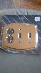Baldwin Brass Outlet Plate Solid Brass Colonial Design Stock 4768