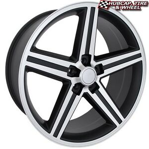 Sik 051 Iroc 20 x8 5 Gloss Black machined Custom Wheels Rims set Of 4 Fwd rwd