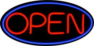 Large Led Open Sign Red Green 24x12 Very Bright bd24 2 Plus Remote