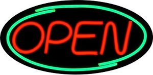 Large Led Open Sign Red Green 24x12 Very Bright bd24 1 Plus Remote