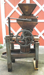 Antique Vintage Apple Cider Press W Grape Press Attachments