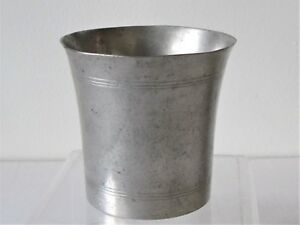 Pewter Beaker American New England Early 19th Century Americana