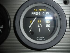 Ferrari 246 Dino 308 Gt4 Oil Pressure Gauge Veglia Free World Shipping