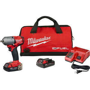 Milwaukee 2852 22ct M18 High Torque 3 8 Drive Impact Wrench Compact Battery Kit