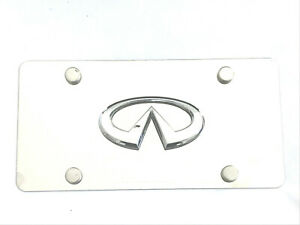 3d Raised Emblem Chrome Silver Stainless Steel License Plate Tag For Infiniti