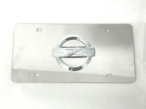 Chrome Raised Z350 370 Emblem Stainless Steel License Plate Tag For Nissan Nismo