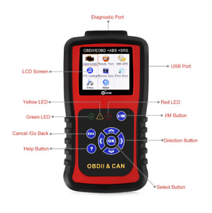 Kzyee Kc501 Obd2 Diagnostic Tool For Engine abs srs Auto Scan Tool Support