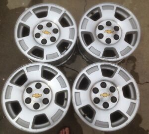 2011 2012 2013 Chevrolet Silverado 1500 Wheels 17 6 Lug Oem Rims Set