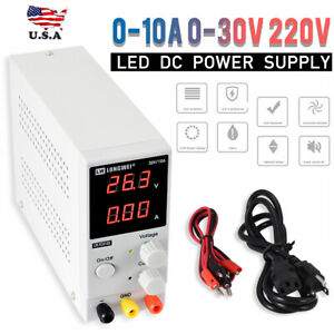 0 10a 0 30v 220v Lcd Dc Power Supply Adjustable Precision Variable Digital Lab