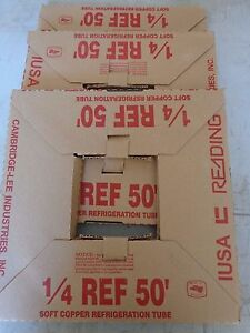 1 Roll Of 1 4 X 50 Copper Tubing 1 4 Od Refrigeration Tubing Made In America