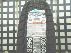 2 Never Used Tires 205 75 14 Cooper Weather Master S T2 Mud Snow 205 75r14 95s