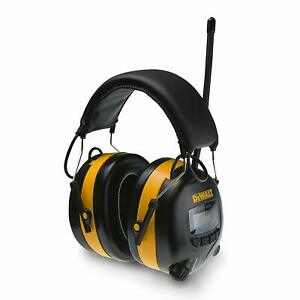 Dewalt Digital Am fm Hearing Protector Earmuffs With Radio Mowing Work Headphone