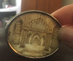 19th Century Anglo Indian Miniature Painting Interior Of Taj Mahal Agra India