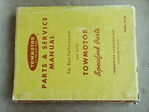 Vintage 1961 Towmotor Forklift Parts List And Service Manual Lubrication Chart