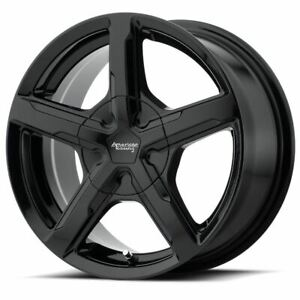 4 New 17x7 40 American Racing Trigger Gloss Black 5x110 5x115 Wheels Rims