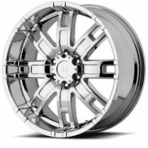 4 New 17x8 0 Helo He835 Chrome Plated 8x165 1 Wheels Rims