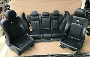 2005 2006 2007 Mercedes W203 C55 Amg Sport Seats Leather Suede Front Rear Set