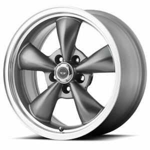 4 New 17x7 5 45 American Racing Torq Thrust M Anthracite 5x115 Wheels Rims