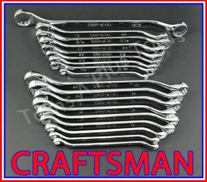 Craftsman Tools 18pc Full Polish Sae Metric Mm Deep Offset Box End Wrench Set