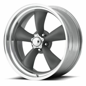 4 New 17x8 8 American Racing Classic Torq Thrust Ii Gray 5x120 65 Wheels Rims