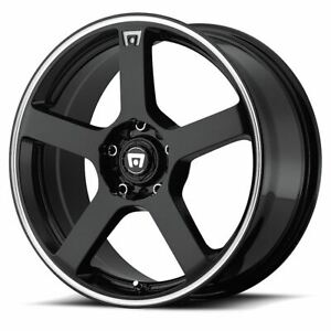 4 New 15x6 5 40 Motegi Mr116 Gloss Black Machine 4x100 4x114 3 Wheels Rims