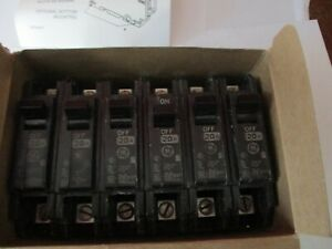 Ge General Electric Thqc1120wl New Circuit Breaker 1 Pole 20 Amp 240v box Of 6