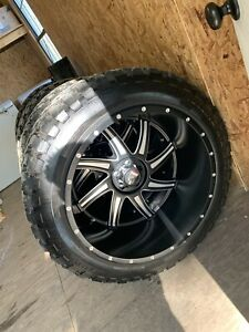 American Truxx 24x14 Vortex Wheels 5x127 And Rbp 37x13 50r24 Tires 4
