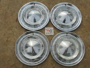 1955 Chevy Bel Air Two Ten 150 Nomad 15 Wheel Covers Hubcaps Set Of 4