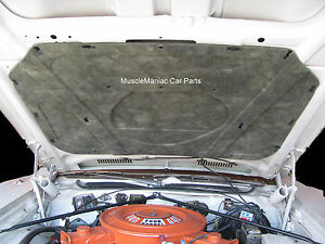 1971 1974 Charger Rigid Fiberglass Molded Hood Insulation Pad W Clip 71 72 73 74