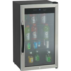 Showcase Beverage Cooler With Stainless Steel Door Frame And Dual pane Gl