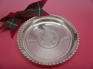 Silver Dish Coin 1891 Indian Rupee India Queen Victoria