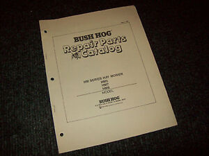 Bush Hog Repair Parts Catalog Hm5 Hm7 Hm8 Hay Mower
