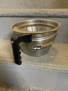Bunn Commercial Coffee Brewer Large Filter Basket Stainless Splashgard Used