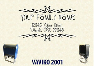 Self Ink Personalised Rubber Stamp Return Business Address Sa014 60 40