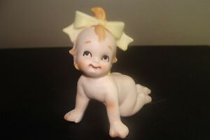 Vintage Bisque Kewpie Piano Baby Crawling So Cute