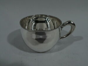 Shreve Crump Low Mug Christening Baby Cup American Sterling Silver