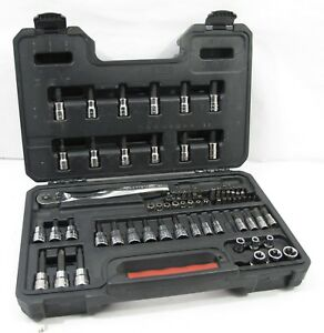 Craftsman 77 Pc Socket Bit Set Kit Security Torx Hex missing 5 Pcs
