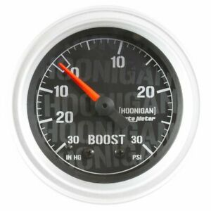 2 1 16in Vacuum Boost Gauge Hoonigan Series Auto Meter 4303 09000