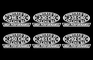 2 Hp Inline Six Engine Decals 216 230 235 250 261 292 Straight 6 Motor Stovebolt