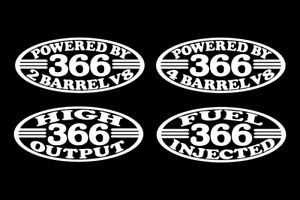 2 366 V8 Bbc Truck Bus Engine Decals 2 4 Barrel High Output Fuel Injected 6 0 L