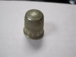 Vintage Simons Brothers Sbc Usa Thimble Nickle Thimble Marked Size 10
