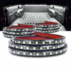 Mictuning 3pcs 60 Truck Bed Lights White Waterproof Led Light Strip With On o