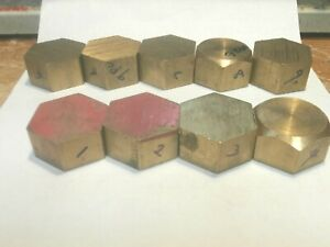 9 Pc C360 Brass Hex Bar 1 1 2 X 760 To 895 Lot 26