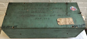 1964 Vintage Old Ford Motor Research Shipping Wooden Crate Box W Paper Invoice