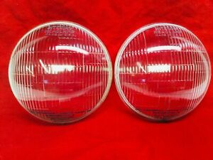 Vintage Pair Riteway Glass Headlight Lenses 1938 Plyomuth Dodge Desoto 1945309