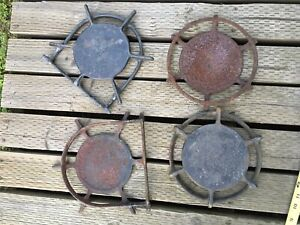 Set Of 4 Antique Stove Burner Grates O Keffe And Merritt Wedgwood As Found