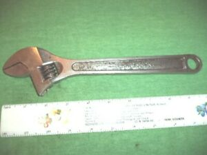 Craftsman 10 Adjustable Wrench Pn 44604 Forged In Usa 250mm