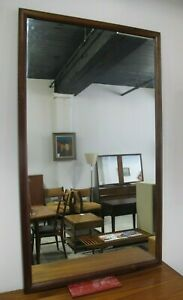 Drexel Parallel Mid Century Rectangular Walnut Mirror Modern