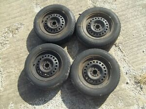 4 Chevy Steel Rims 15 Inch 195 65 R15 Fuzion Hri Tires In Good Shape With Lug